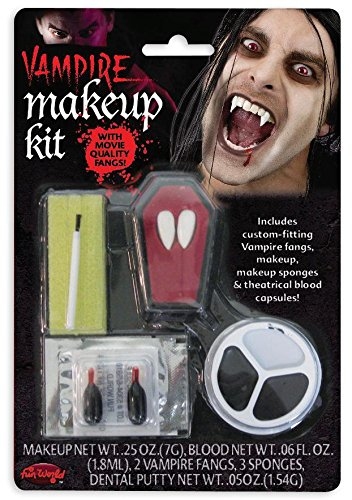 Close Up Vampir-Makeup-Kit mit Zähnen, Schminke & 2 -
