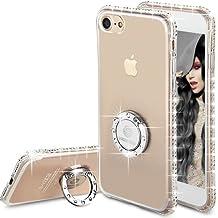 Funda Glitter iPhone 7,Funda Bling Diamante Case Carcasa Dura Brillante Brillo Purpurina Llamativa para Apple iPhone 7