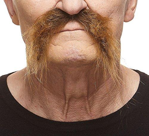 Realistischer brauner Fu Manchur fälschen, selbstklebend Schnurrbart