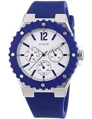 Guess Damen-Armbanduhr Analog Quarz Silikon W90084L3