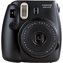 Fujifilm Instax Mini 8 - Cámara analógica instantánea (flash, velocidad de obturación fija de 1/60 s), color negro