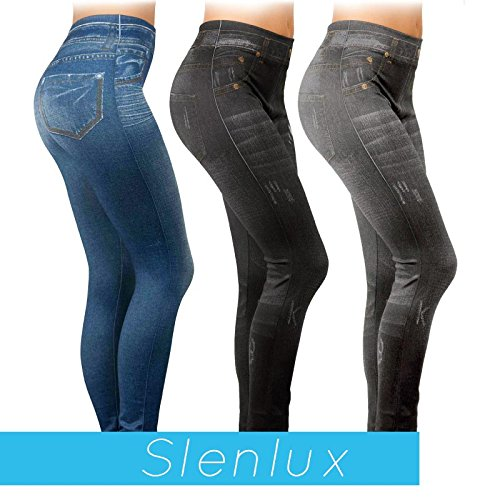SLENLUX (L/XL) leggings snellente contenitivo elegante modellante dimagrante visto in tv