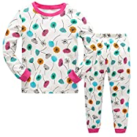 Tkiames Baby Girls Pyjamas Set Dandelion PJ Set Soft Long Sleeve Long Pants 2 Pcs Sleepwear Nightwear 100% Cotton
