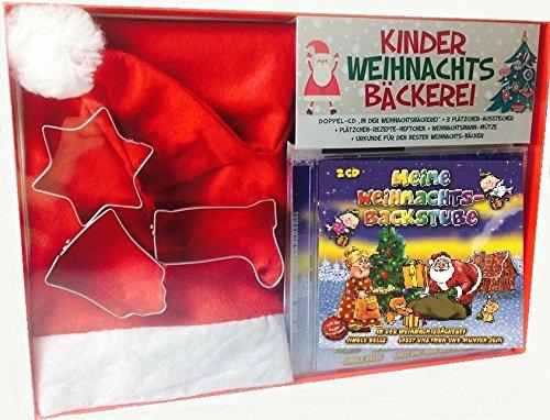 Weihnachtsbäckerei Geschenk-Set : 2CD Meine Weihnachts-Backstube plus Weihnachtsmütze plus Ausstechformen plus Rezeptheft plus Urkunde
