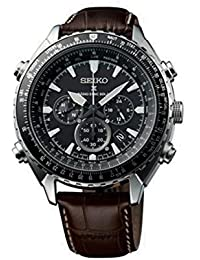 Seiko SSG005P1 - Reloj de pulsera para hombre, negro / plata