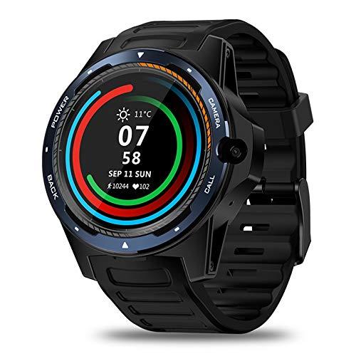 ZLOPV Fitness Armband Smartwatch Telefon SIM + GPS + GPRS + 3G 2GB RAM + 16G ROMintelligente Uhr für Apple iPhone 5s 6s 7 Plus Huaweivivo Samsung gear3, Silber (Iphone 3g-armband)