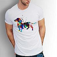 Hund Dackel Herren Tshirt Für Männer Kurzarm 100% Baumwolle