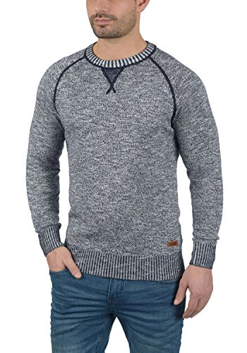 SOLID Thian - Pull en maille fine - Homme Insignia Blue (1991)