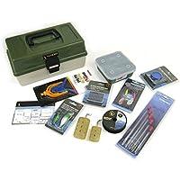 roddarch flotadores de pesca caja – set de regalo incluye, pesos, ganchos, Spinner