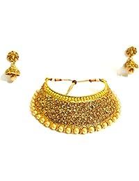Gudiya Art Gold Plated Necklace Set For Women(GUDIYA Art 2)