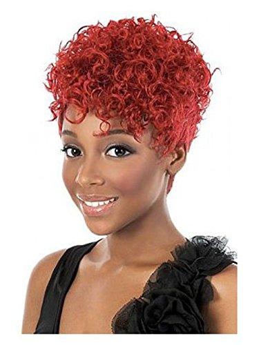 Européen et américain mode court cheveux perruque courte rouge vin femmes chaudes étoile avec une geschweiften Mode perruque bouclés