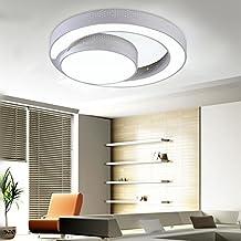 LYXG Led Deckenlampe Deckenleuchte Modernes Wohnzimmer Schlafzimmer Eisen 60cm Decke Licht Weisses