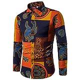 Herren Hemd T-shirt,Dasongff Herren Hemd Casual Long Sleeve Shirt Business Slim Fit Langarm-hemd Blumendruck Langarmshirt Top Bluse Oberteile M~5XL (M, Multicolor-C)