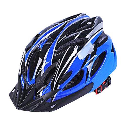 Uzexon Erwachsene Unisex Helme mit 18 Belüftungsöffnungen,Abnehmbarer Visier,Einstellbares Radsystem und Ein weicher Mesh-Liner für Fahrradhelme (Blau/Schwarz)