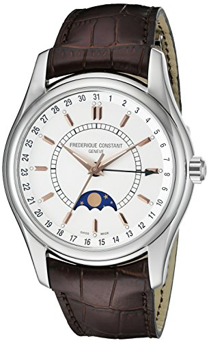 frederique-constant-mens-43mm-brown-leather-band-steel-case-automatic-silver-tone-dial-watch-fc-330v