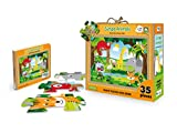 Jungle animals. Puzzle gigante. Ediz. illustrata. Con libro