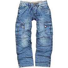 "Timezone Herren Cargo Jeans Benito ""3756 Blue Marble Wash"""