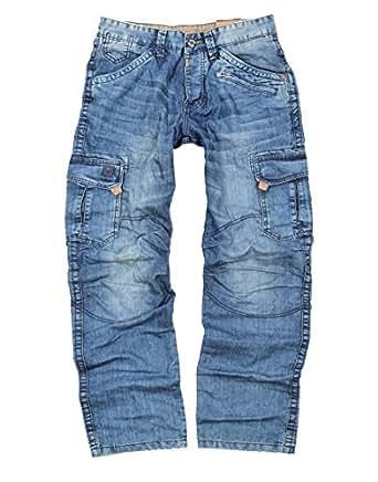 timezone herren cargo jeans benito 3756 blue marble wash. Black Bedroom Furniture Sets. Home Design Ideas