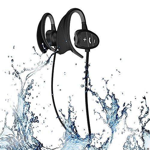 Professional IPX8 High de Niveles imprägniern Deportes inalámbrica Bluetooth Auriculares Bluetooth Auriculares Super Manera Nuevo Tipo de Tiburón BH802, Negro