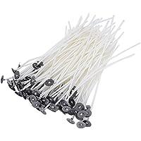 Paquete 100 vorgewachsenen mechas para DIY Vela Fabricación con sustainers ...