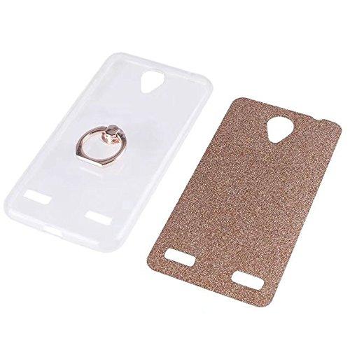 Soft Flexible TPU Back Cover Case Shockproof Schutzhülle mit Bling Glitter Sparkles und Kickstand für ZTE A520 ( Color : Gold ) Blue