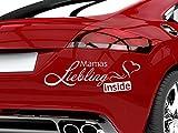 Autoaufkleber Baby Babyaufkleber fürs Auto Spruch Mamas Liebling inside (30x10cm//045G hellrosa)