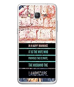 PrintVisa Designer Back Case Cover for Samsung Galaxy Grand Neo Plus (in happy marriage wife climate)