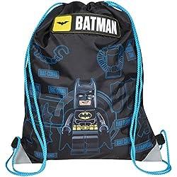 Mochila oficial de Batman Lego para gimnasio, deportes, zapatos, natación, con tirantes