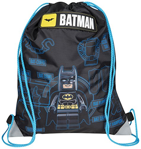 OFFICIAL BATMAN LEGO BOYS TRAINER SHOE GYM PE SPORTS KIT SWIM DRAWSTRING BAG