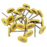 cnmade montiert Leder Polieren Buff Rad mit Spanndorn für Dremel Rotary Werkzeuge 2,35mm Schaft 20Stück