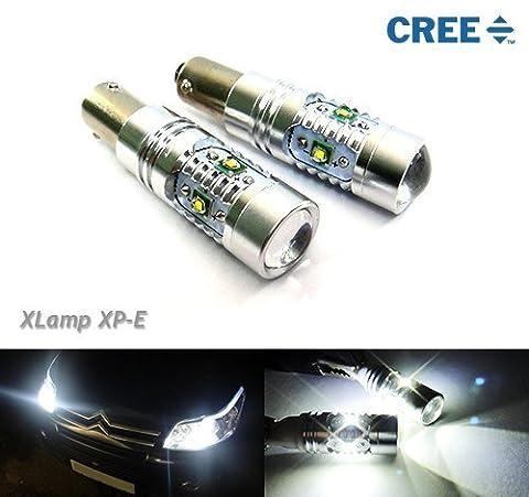 2x Luffy H6W 433434BAX9S Leuchtmittel CREE LED Standlicht Indikator Rückseite Licht 50W kein Fehler Weiß