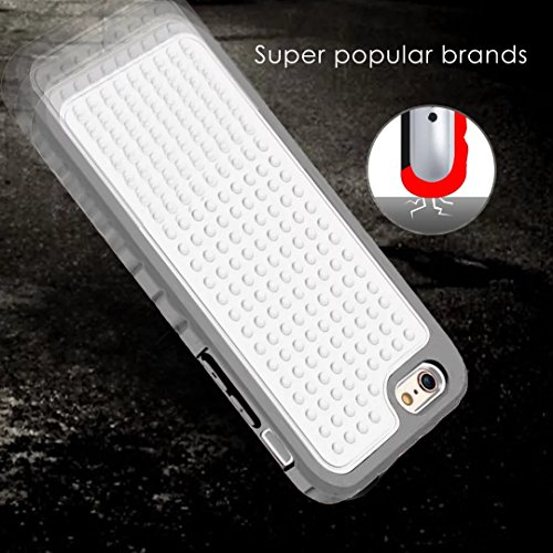 IPhone 6S Plus Case, Super Shockproof 3 In 1 Vollkörper Schutz PC Hard zurück Fall für IPhone 6S Plus / IPhone 6 Plus ( Color : Blue ) White