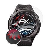 atFoliX Schutzfolie passend für Casio WSD-F20 Folie, entspiegelnde & Flexible FX Bildschirmschutzfolie (3X)