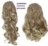 PRETTYSHOP 2 in 1 40cm e 50cm di estensioni dei capelli parrucca coda di cavallo fibre sintetiche ingombranti eresistente al calore bionda mix # 27T613 H23-2