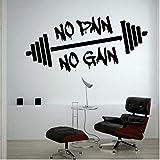 HUAIyinSTO Wand Sticker Keine Schmerzen Kein Gewinn Gewichteheben Training Gym Wandtattoos...
