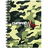 GymPad Mini Workout Journal - The Small Stylish Way To Track Your Workouts (Camo), Size A6