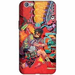 PrintlandDesignerHard Plastic Back Cover For Oppo F1S -Multicolor