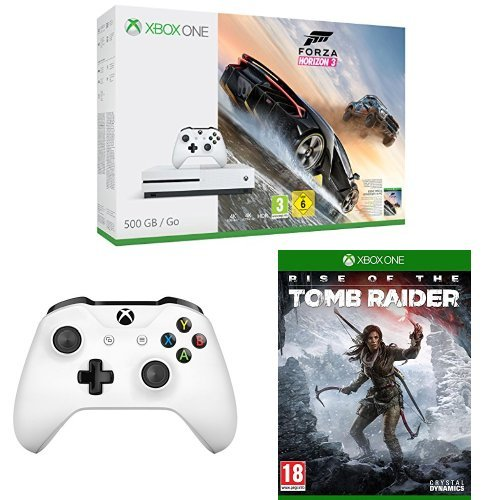 Pack Console Xbox One S 500 Go + Forza Horizon 3 + Manette + Rise of the Tomb Raider