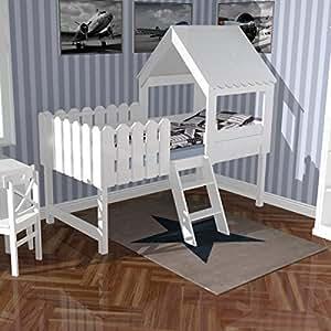 lounge zone spielbett abenteuerbett h hlenbett baumhausbett kinderbett spielh hle bett. Black Bedroom Furniture Sets. Home Design Ideas