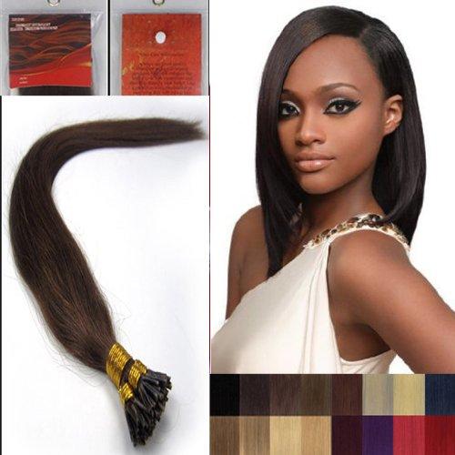 50,8 cm droite à pointe Boucles Micro anneaux perles Extenions de cheveux humains 100S 06 foncé Marron chocolat Femme Beauté multicolores Style Design 0,5 g/s