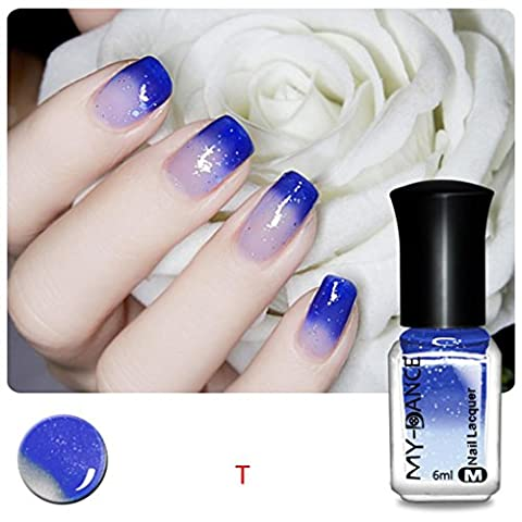 Ularma Thermique Des ongles Vernis Changeant de couleur Décollez Vernis Beauté Sexy Produit de beauté T