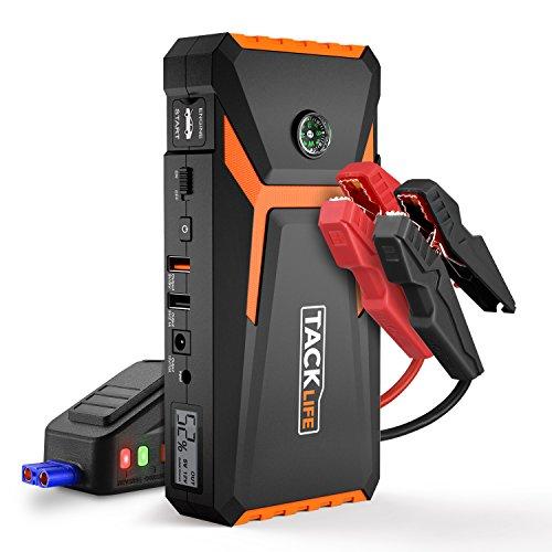 Preisvergleich Produktbild TACKLIFE T8 Starthilfe Powerbank - 800A Spitze 18000mAh Starthilfe,  12V Auto Starthilfe (bis zu 6, 5L Benzin,  5, 5l Diesel),  Jump Starter mit Kompas,  LCD Bildschirm