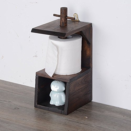 Leder-handtuchhalter (XiaoGao_ kreative massivholz Retro - Bad handtuchhalter, hängende küche Regal, Rollen Papier Rack, Rack, toilettenpapier)