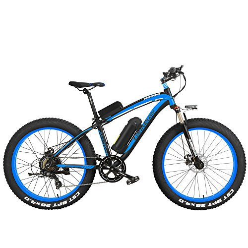 51W4HyaWXmL. SS500  - LANKELEISI XF4000 26 inch Pedal Assist Electric Mountain Bike Mens Cruiser Cycling Roadbike 4.0 Fat Tire Snow Bkie 1000W/500W Strong Power 48V Lithium-Ion Battery 7 Speed Suspension Fork,Pedelec.