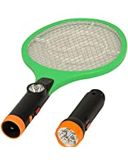 Rareeram 2 In 1 Rechargeable MosquitoInsect Racket Bat With