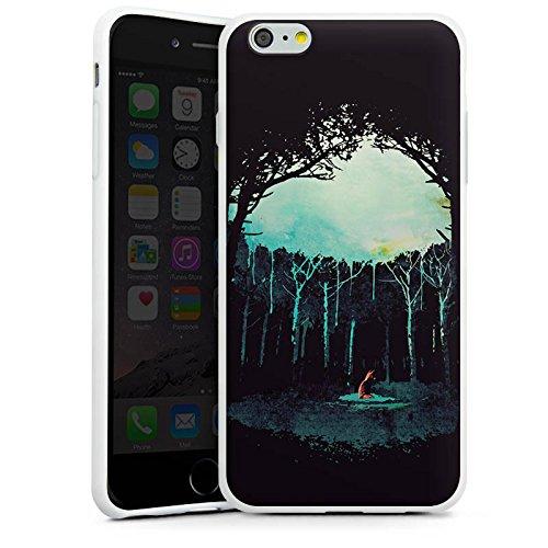 Apple iPhone X Silikon Hülle Case Schutzhülle Wald Art Forest Silikon Case weiß