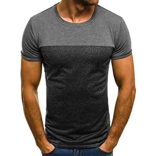 Lurcardo Herren T-Shirt - Männer Herren Sommer Kurzarm Rundhals Fest T Shirt Tee Hemd Casual Muscle Basic Fitness Sports Yoga Shirt Slim Fit T-Shirt Tanktops Tank Top Tops T-Shirts Hemden für Herren