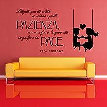 Scritte adesive per pareti in italiano for Scritte da parete
