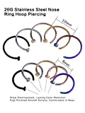 Edelstahl Nase Ring Hoop Nase Stud Körper Schmuck Piercing, 20 Gauge, 10 Stück Vergleich