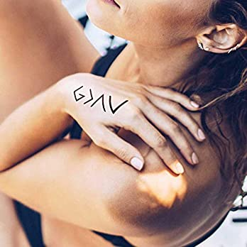 God is Greater Than My Highs and Lows – 2 Temporäres Tattoo